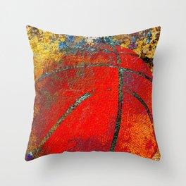 Basketball art 14 Throw Pillow
