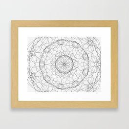 the fountain - floral mandala Framed Art Print