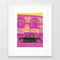 mini Framed Art Prints featuring MINI by Louisa Rogers
