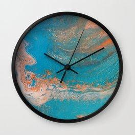 Sunset Blue Wall Clock