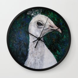 The White PeaQueen Wall Clock
