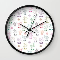 Cacti under the moon Wall Clock