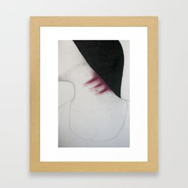 What you say is nothing compared to what I do to myself unknowingly.  Framed Art Print