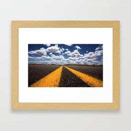 Double Yellow Framed Art Print