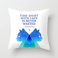 freud Throw Pillows featuring Freud by EtOfficina