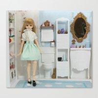 bathroom Canvas Prints featuring Bathroom by ♥  Little Enchanted World ♥