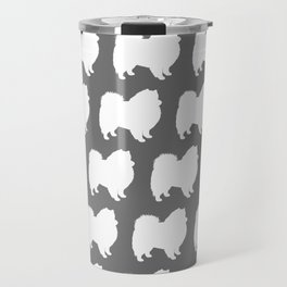 American Eskimo Dog Silhouette Travel Mug