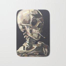 Vincent van Gogh- Skeleton Smoking a Cig (Recreation) Bath Mat