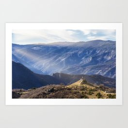 Small chapel in the mountains. Art Print