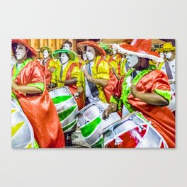 Candombe Drummers at Carnival Parade, Montevideo - Uruguay Canvas Print