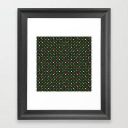 Colorful small polka dot Framed Art Print