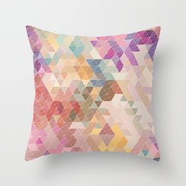 Soft Mini Triangles Throw Pillow