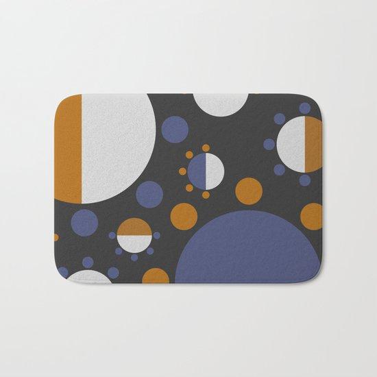 MORE AND MORE CIRCLES  (abstract pattern Bath Mat