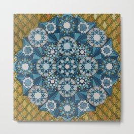 blue geometry  Metal Print