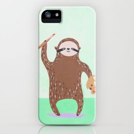 Artist Sloth iPhone Case