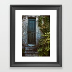 Secret Garden Door Framed Art Print