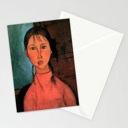 "Amedeo Modigliani ""Girl with Braids"" Stationery Cards"