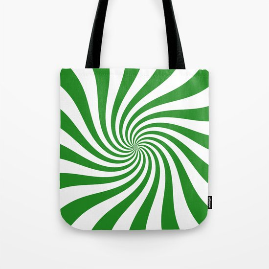 Swirl (Forest Green/White) Tote Bag