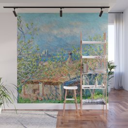 "Claude Monet ""Gardener's House at Antibes"", 1888 Wall Mural"