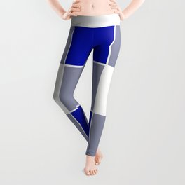 TEAM COLORS 3 ....BLUE ,GRAY Leggings