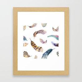 Feather pattern 2 Framed Art Print