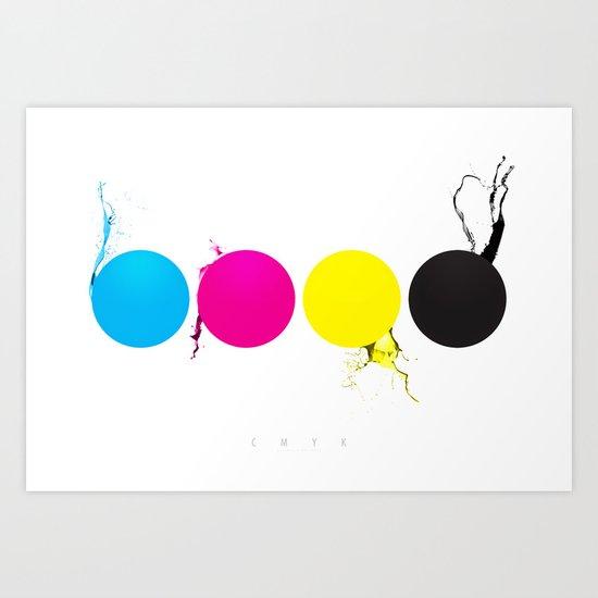 CMYK Art Print