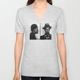 Malcolm X Mugshot Unisex V-Neck
