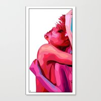 women Canvas Prints featuring women by veronica ∨∧