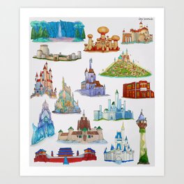 Princess Castles Art Print