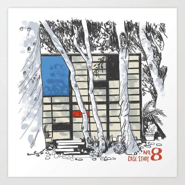 Case Study House No. 8 Art Print