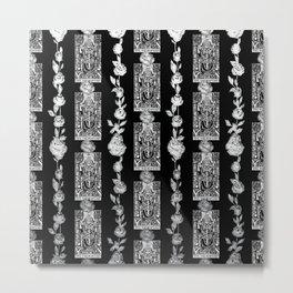 The Hierophant - A Tarot Floral Pattern Metal Print
