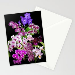 Orchids - Cool colors! Stationery Cards