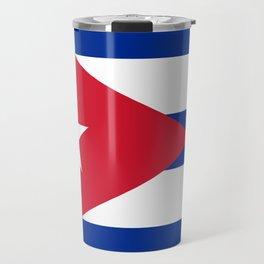 Flag of Cuba - Banner version (High Quality Image) Travel Mug