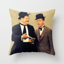 Laurel and Hardy, Legends Throw Pillow