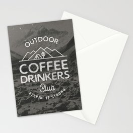 Outdoor Coffee Drinkers Club Stationery Cards