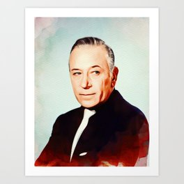 George Raft, Vintage Actor Art Print