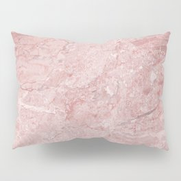 Blush Pink Marble Pillow Sham