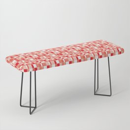 Mod Gingham - Red Bench