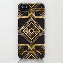 Art Deco Geometric Pattern iPhone Case