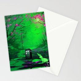 Tardis Stay Lost In The Forest Stationery Cards