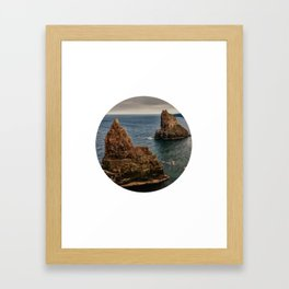 Rocky sea circle photo Framed Art Print