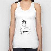 louis tomlinson Tank Tops featuring Louis Tomlinson by the peach hideout