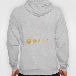 Faux Gold Moon Phases Gold Heart Hoody
