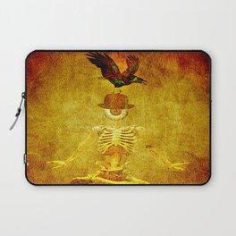 Monsieur Bone and Archibald the crow Laptop Sleeve
