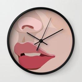up close lips Wall Clock