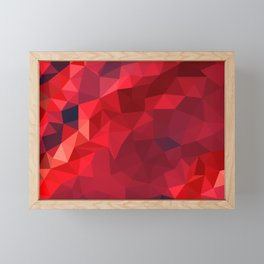 Ruby Red Low Poly Framed Mini Art Print