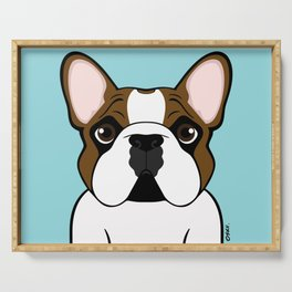 Frenchie - Fawn Pied Serving Tray