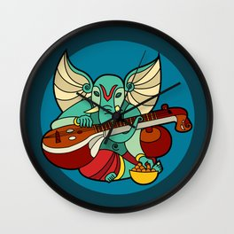 Ganesha Plays Veena Wall Clock