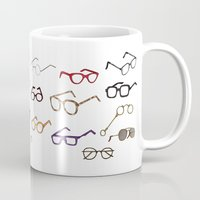 glasses Mugs featuring glasses by Janaína Esmeraldo