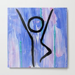 Tree pose abstract Metal Print